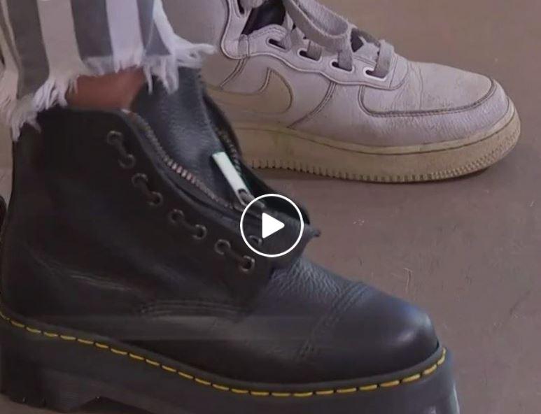 Schuhe Anprobieren